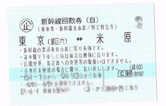 米原―東京(自由席)